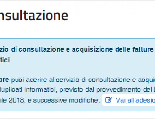Adesione servizio consultazione fatture elettroniche AdE
