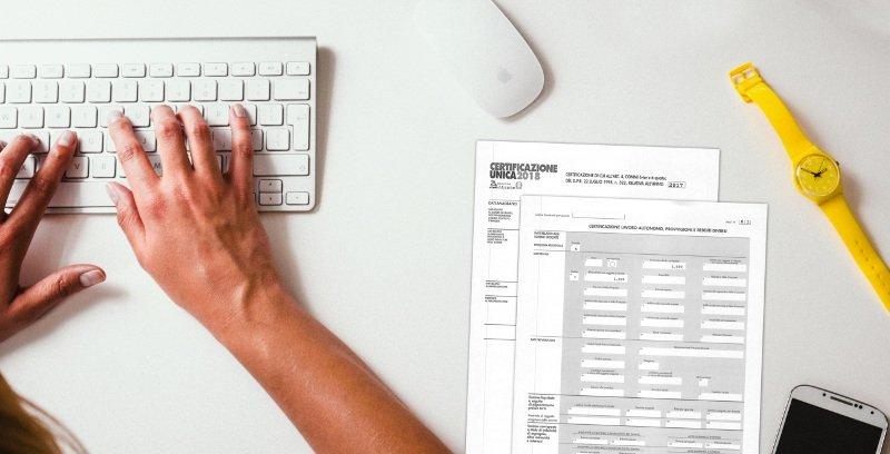 Certificazione Ritenuta Acconto 2018