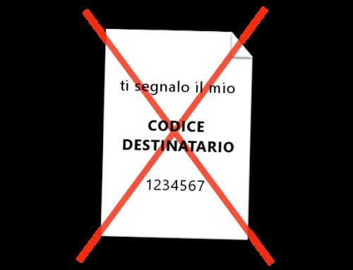 Codice destinatario fattura elettronica: cosa non fare