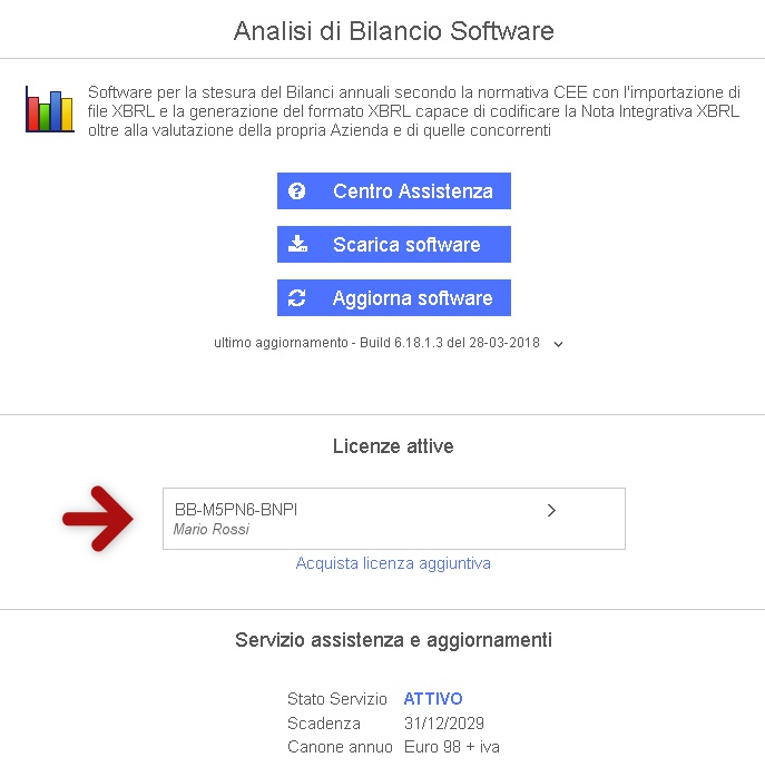 Come installare software Analisi di Bilancio licenza