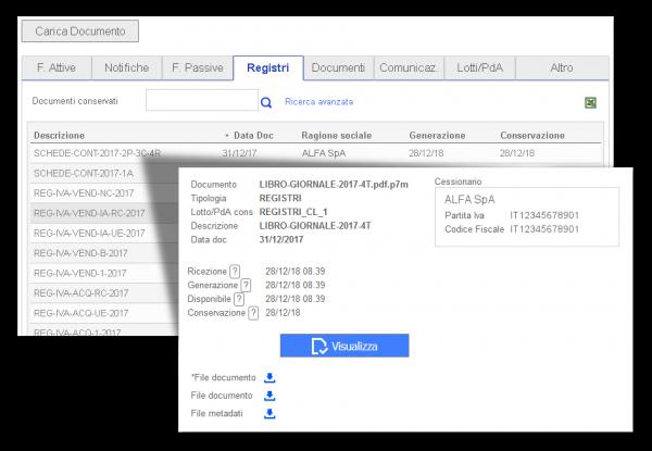Conservazione Elettronica Libri contabili esempio