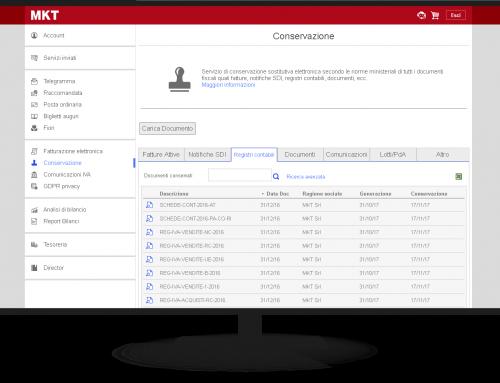 Storico Conservazione Elettronica servizio hosting