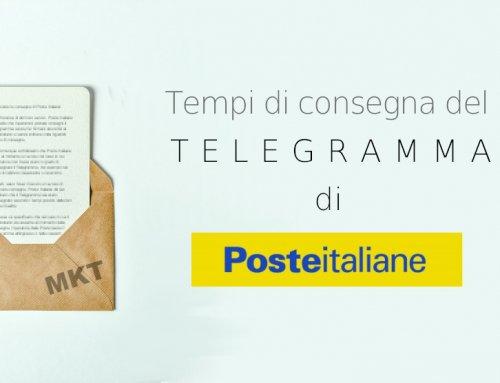 Tempi consegna Telegramma di Poste Italiane